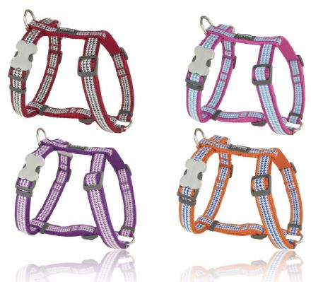 Red Dingo Dog harness Fang It design